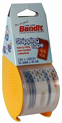 "2 Rolls Carton Box Sealing Shipping Packing Tape 2 x 1600"" Bandit Tape"