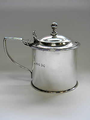 Antique Geo. Iii Georgian Silver Mustard Pot London 1817