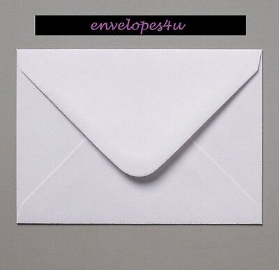 C5 White Envelopes for A5 Cards 100gsm Gummed Diamond Flap Craft FREE P&P !!!