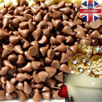 Chocolate Chips /Drops 1kg 700g 500g for Fountain, Decorations, Baking as Sweets