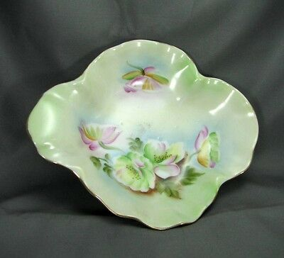 Elegant Mid-Century Hand-Painted Lefton Made in Japan Mint Tray