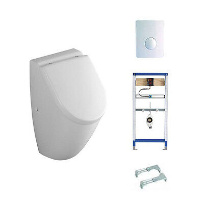 Urinal Subway Mit Deckel Softclose Villeroy & Boch Komplett Set Vorwandelement
