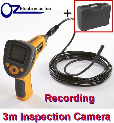"""CHINSCOPE - Inspection Camera 6 LED 3M Borescope 2.5"""" Colour LCD Endoscope NEW"""