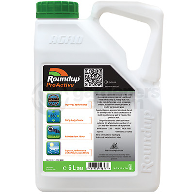 1 X 5L Roundup Pro Biactive 360 Strong Professional Glyphosate Weedkiller
