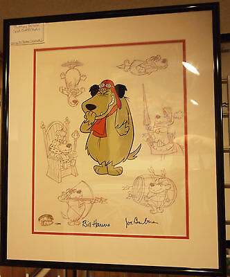 Muttley Persona Wacky Races Dick Dastardly Hanna Barbera signed framed ON SALE!