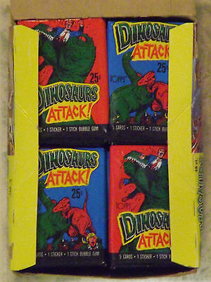 Vintage 1988 Dinosaurs Attack! Unopened Wax Pack from Box