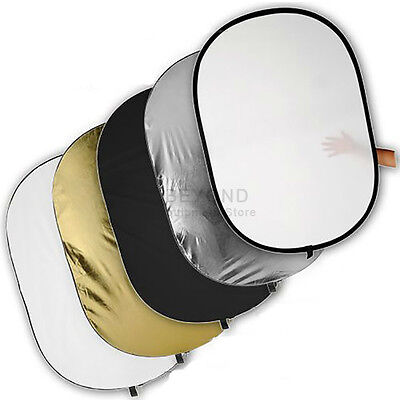 """40""""x60"""" 100x150cm Photo Oval 5-in-1 Reflector Studio Collapsible Disc Panel Set"""