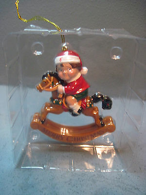 Campbell Soup Kid On Rocking Horse Christmas Ornament
