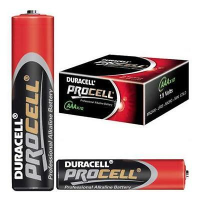 20 x DURACELL PROCELL AAA LR03 MN2400 PROFESSIONAL ALKALINE BATTERIES EXP 2019