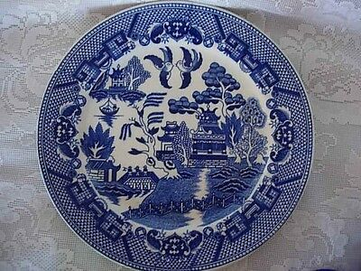 Collectible Vintage Japan Blue Willow Plate - Decorate a Wall
