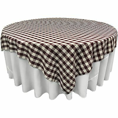 LA Linen Square Checkered Tablecloth 84 by 84-Inch. Made in USA