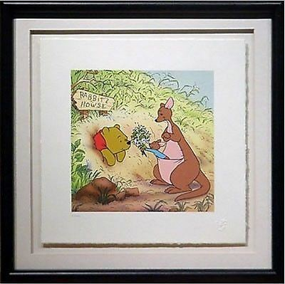 Pooh's Tight Space Winnie The Pooh Kanga Roo Disney Serigraph on Paper Art