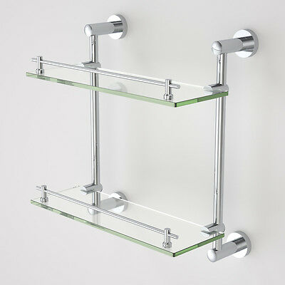 Double Glass Shelf 8MM Tempered Glass Shower Bathroom Glass Shelf