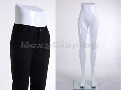 Female mannequin fiberglass legs w/stand skirt dress pants display MZ-TM1WHITE
