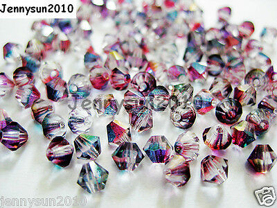 100Pcs Top Quality Czech Crystal Bicone Beads Exclusive 3mm 4mm Pomegranate