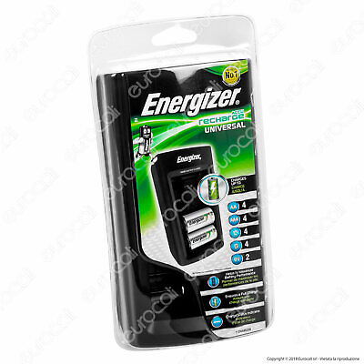 CARICABATTERIE ENERGIZER UNIVERSALE PILE AA/AAA/C/D/9v