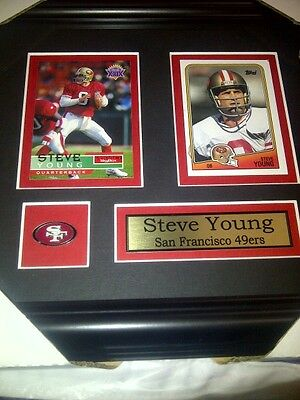 Steve Young San Francisco 49 'ers NFL Football Museum framed card Free Shipping