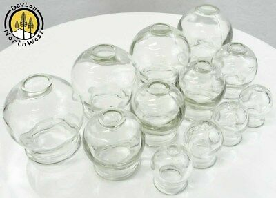 Medical Glass Fire Cupping + Chinese Massage + Anti Cellulite + Mixed Set + 12