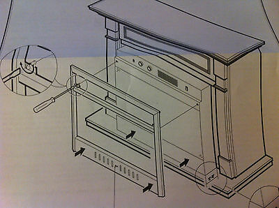 "Dimplex 32 1/2"" x 27"" Black Surround 2"" Trim Fireplace Liquidation NEW in Box"