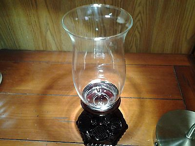 AVON 1876 CAPE COD Collection Hurricane Candle, vintage antique red glass LOOK