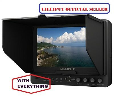 Professional Lilliput 665/S/P HD-SDI Peaking Focus HDMI In&Out Monitor+BATTERY