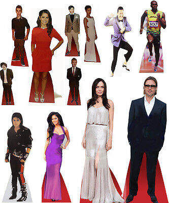 Cutouts Celebrity Board 40cm Standee Cardboard Hollywood Actors Xmas Party Queen