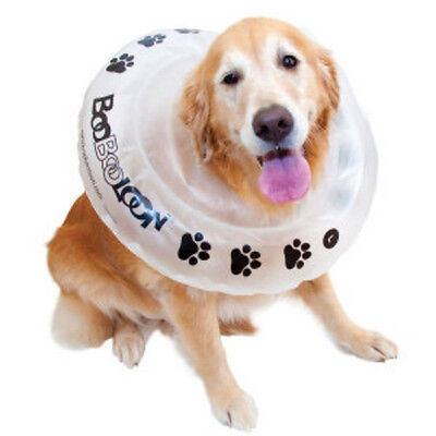 BooBooLoon Dog Cat Inflatable E Collar Cone Surgery Injury Protective Recovery