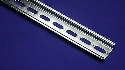10 pieces DIN Rail Slotted Steel, RoHS Compliant, 35mm x 7.5mm, 1 Meter