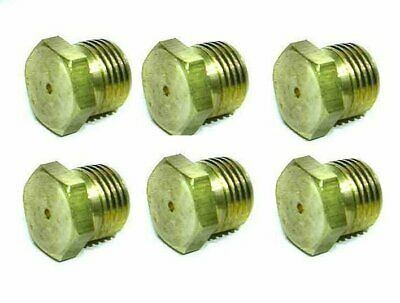 6 ORIFICE,HEX PLUG(BLANK,1/8NPT) can be drilled to size