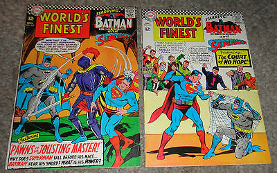 World's Finest Batman And Super-Man #162,163  Vg/fn To Fn-