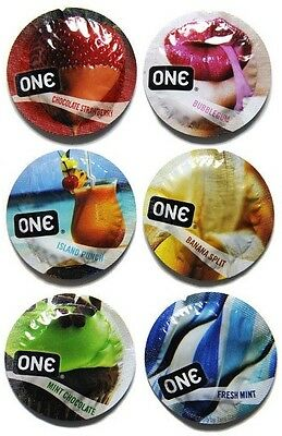 ONE Flavor Waves Assorted Flavored Bulk Condoms - Choose Quantity