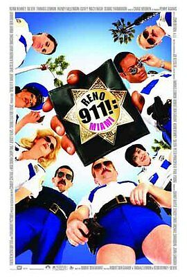 RENO 911: MIAMI - 2007 - orig 2-sided 27x40 Movie Poster DANNY DEVITO, PAUL RUDD
