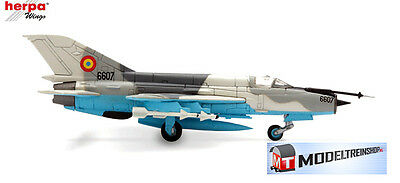 "Herpa Wings 1:200 #552431  Romanian Air force Mikoyan MiG-21 ""LanceR C"""