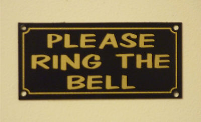 Please Ring The Bell House/Garden Property Sign/Sticker small size 100mm x 45mm