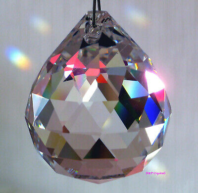 Sun catcher Hanging Window Crystal Feng Shui Rainbow Prism Sparkling  Gifts x2