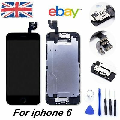 For Black iPhone 6 Replacement LCD Touch Screen Digitizer Assembly+Camera Button