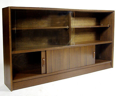 Glazed Bookcase / Sideboard / Cabinet - 1950s / Retro (Delivery available) • £100.00