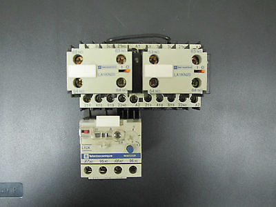 Telemecanique Contactor W/ Thermal Overload + 2 Contact Bloacks And 2 Modules