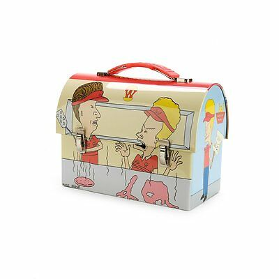 Beavis and Butthead Metal Tin Lunch Box Restaurant Vintage NEW Carrier Worksman