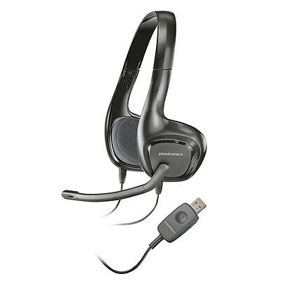 Plantronics Audio 622 Binaural USB Stereo Lightweight Noise-Canceling PC Headset