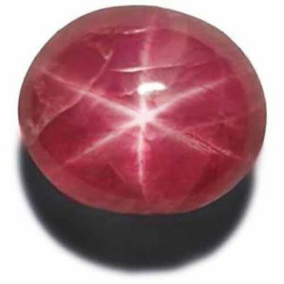BURMA Star Ruby 4.07 Cts Natural Untreated Intense Pinkish Red Oval
