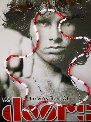 Jim Morrison / Doors Bead Necklace 1967 Cobra Young Lion Photo Shoot Red Version