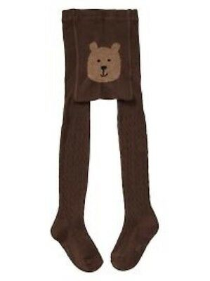 NWT GAP Cable Knit Bear Tights Bear Face Soft Bottom NEW Girls 12 24 2 3