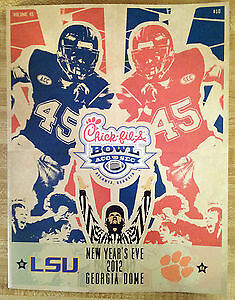 2012 SEC vs ACC Chick-fil-a Peach Bowl Program Guide LSU Clemson Tigers NEW