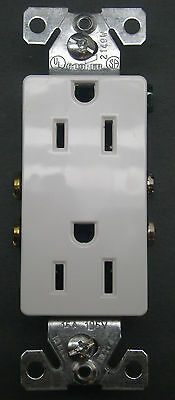 NEW LOT OF 10 COOPER WHITE GROUNDING DUPLEX RECEPTACLES 1107W 15A AMP 125V NIB