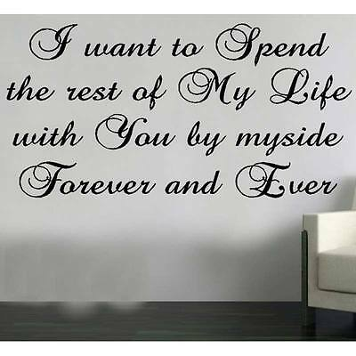 Forever and Ever wall sticker Design transfer print bedroow decor