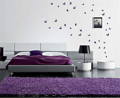 48 Butterfly wall art stickers Up to 48 vinyl wall decals wall decor
