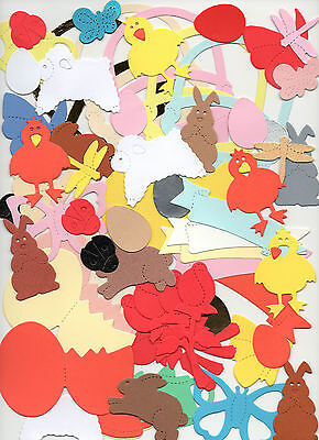 100 X EASTER//SPRING SIZZIX DIE CUT MIXED SHAPES free 1st class post