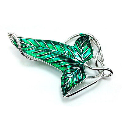 Lord of the Rings Elven Brooch Fellowship Brooch Pins Green Leaf Fashion Jewelry