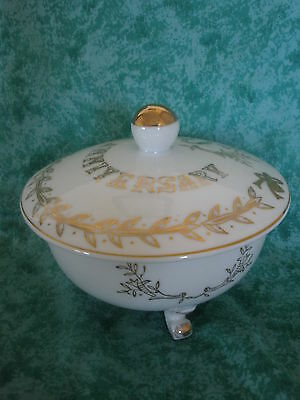 VINTAGE LEFTON 50TH ANNIVERSARY FOOTED COVERED CANDY DISH #2606 ~JAPAN
